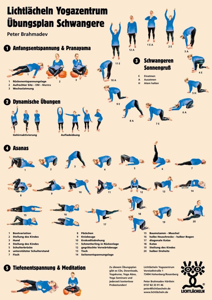 lichtlaecheln yogauebungsplan schwangere