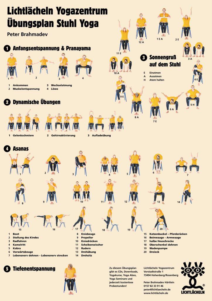 yogauebungsplan yoga auf dem Stuhl